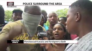 Intense stand-off between locals and immigrants in Pretoria
