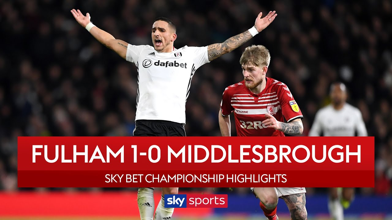 Fulham close gap on top two! | Fulham 1-0 Middlesbrough | EFL Championship Highlights