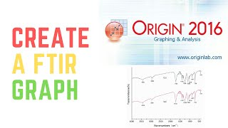 ORIGIN 2016- HOW TO CREATE A FOURIER TRANSFORM INFRA-RED (FTIR) SPECTROMETER GRAPH