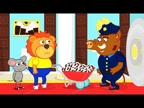 Lion Family Chocolate Bank Cartoon for Kids