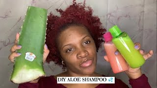 How To Make A Diy Aloe Vera Shampoo  Natural Hair  Collab With AllThings Via