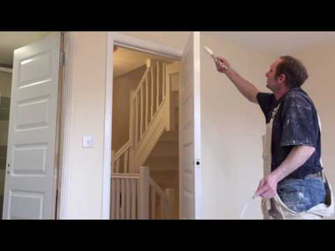 Painting Decorating How To Paint A Door Frame In Satin Finish From