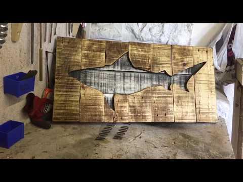 Make A Pallet Shark Wall Art.