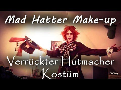 Mad Hatter Make-up - Der verrückte Hutmacher Kostüm