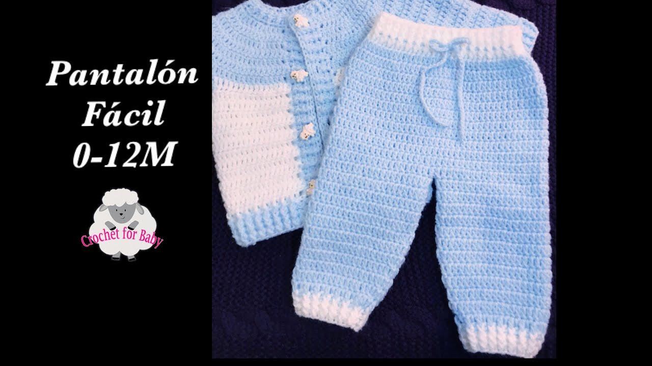Ajuar Pantalon Para Bebe Ninos Ninas Con Ganchillo Gancho A Croche Crochet For Baby 190 Youtube