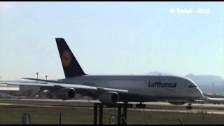 Lufthansa's A380 (D-AIMC) landing at Palma de Mallorca (LEPA)