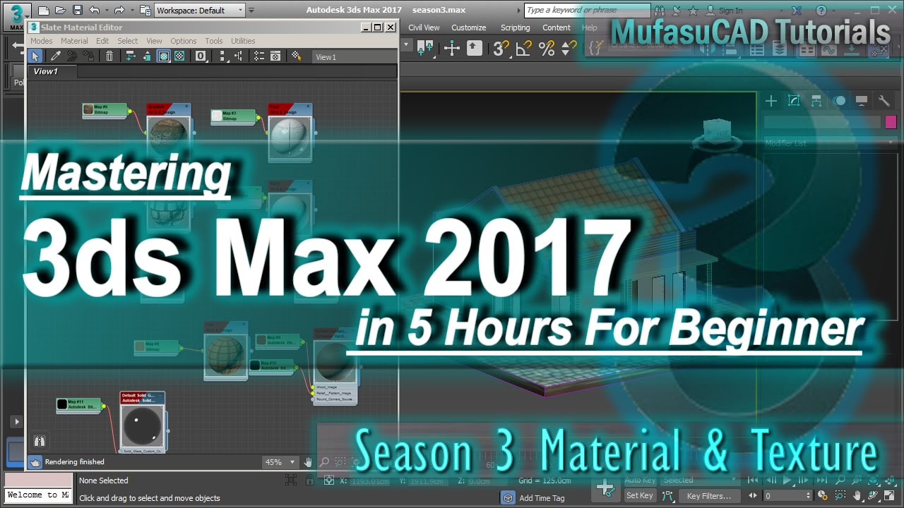 3ds max 2017 material texture slate material tutorial for 3ds max course