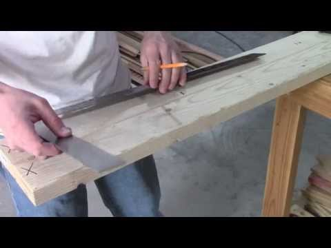 "How to layout wall studs 16"" on center o.c. Wood Frame"