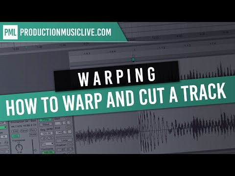 How to warp and cut a Track in Ableton Live Pro style / Audio Editing Trim Delete