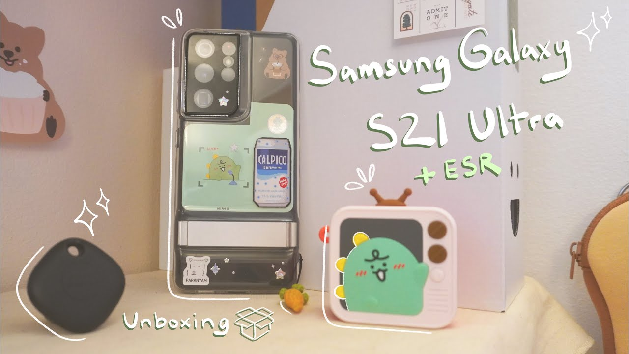 [unboxing 📦] samsung galaxy s21 ultra + ESR accessories 🐸camera testing 📷