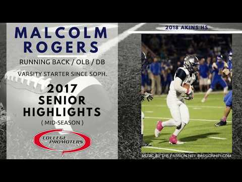 Malcolm Rogers - 2017 Senior Highlights (Mid-Season)