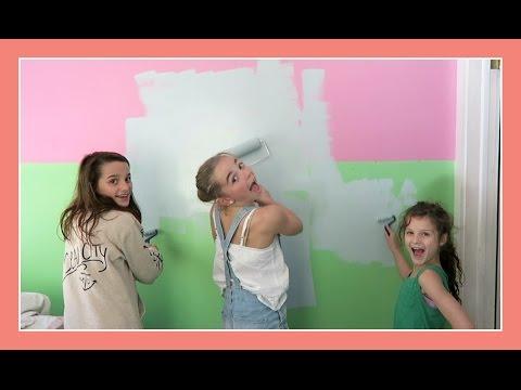 Katie Paints Her Bedroom | Flippin' Katie