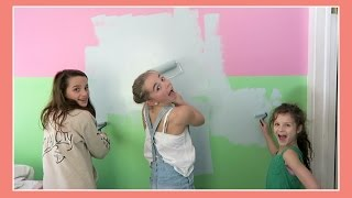 Katie Paints Her Bedroom | Flippin' Katie