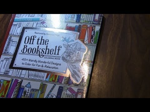 Flip Through Off The Bookshelf Coloring Book