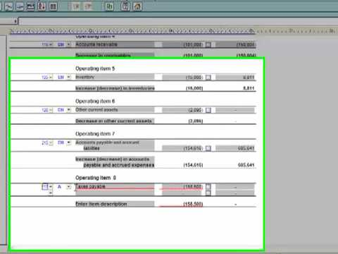 GAAP Financials Working in the Financial Statements - Statement of