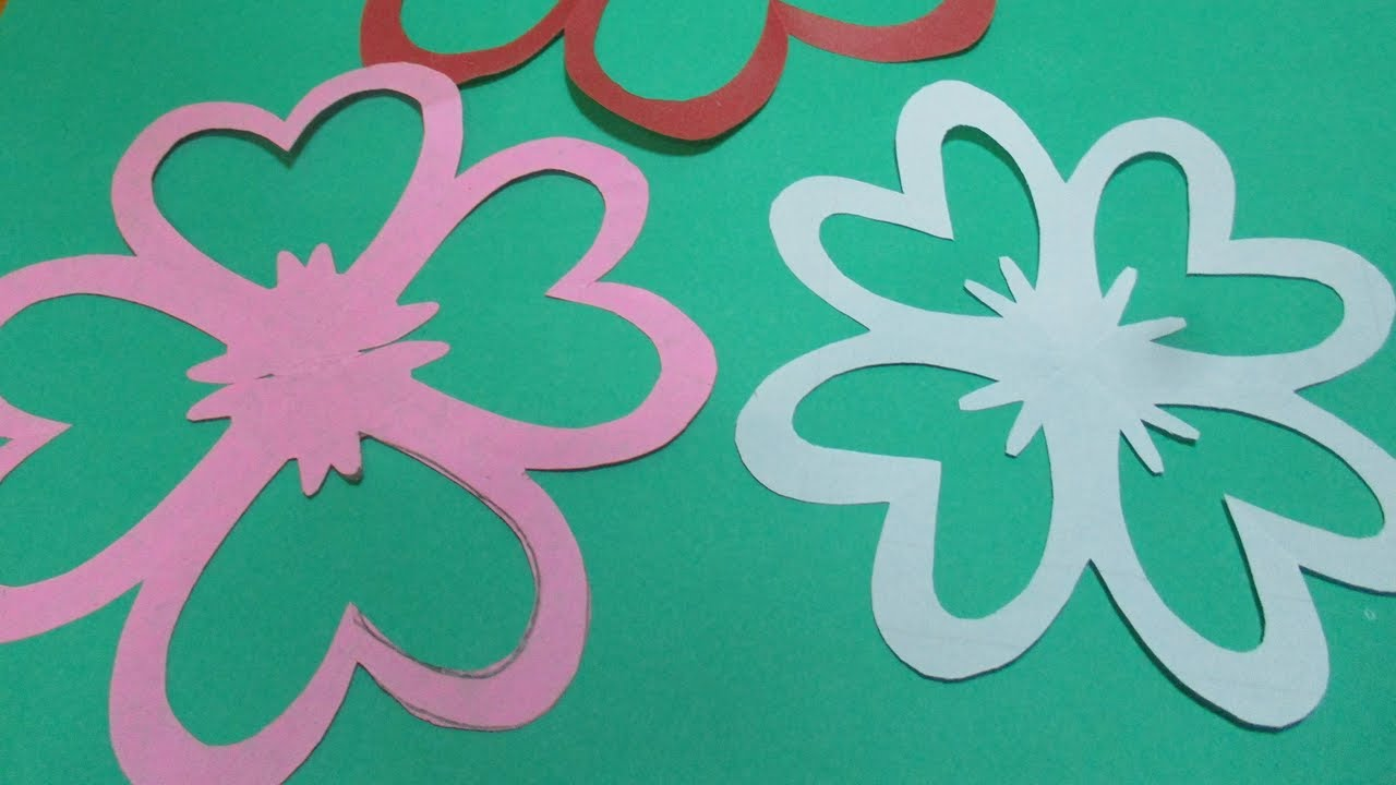 How To Make Simple Easy Paper Cutting Flower Designs Diy