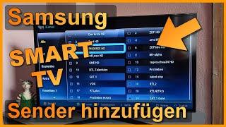 Samsung Smart TV 6er Serie: DVB-S Sender manuell hinzufügen (Satellit Frequenz / Transponder)