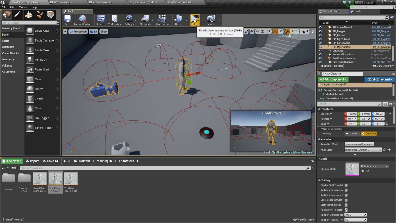 Unreal Engine 4 - Applying Damage with Attacks (Part 29)