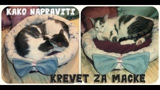 kako napraviti krevet za macke diy bed for cats cama para gatos