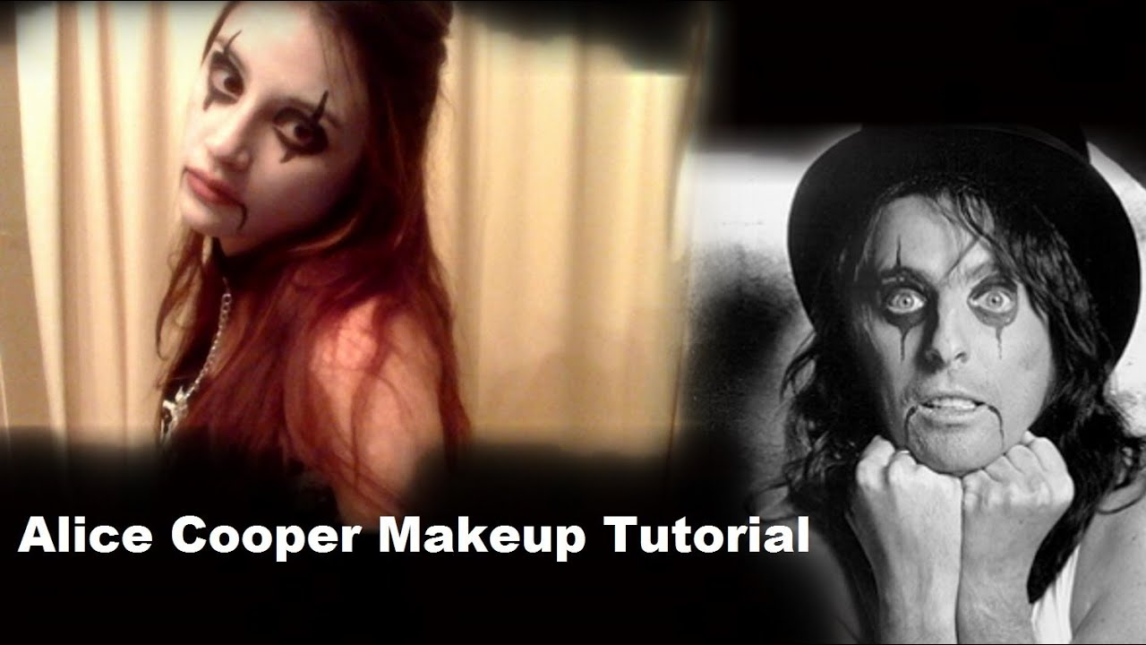 alice cooper makeup tutorial youtube. Black Bedroom Furniture Sets. Home Design Ideas