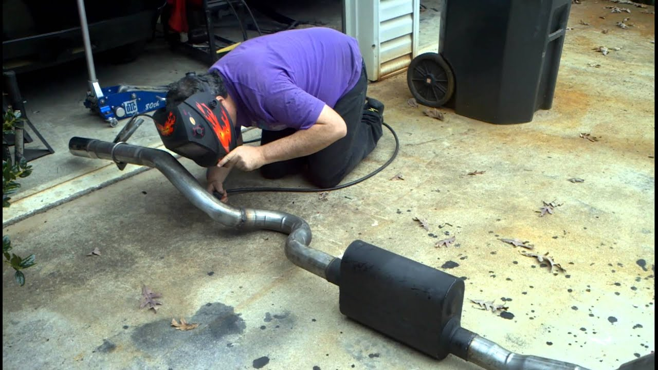 Welding GTO Exhaust Leaks - YouTube