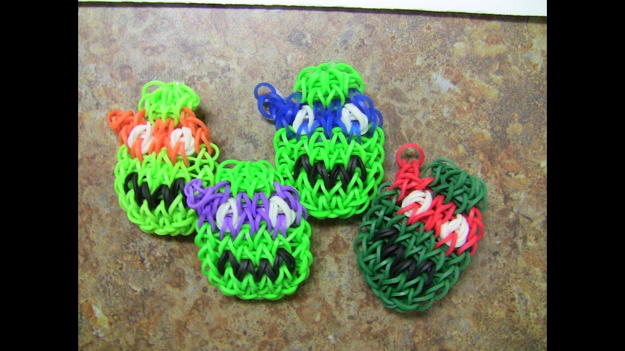 Rainbow Loom Ninja Turtles Characters New Bracelet