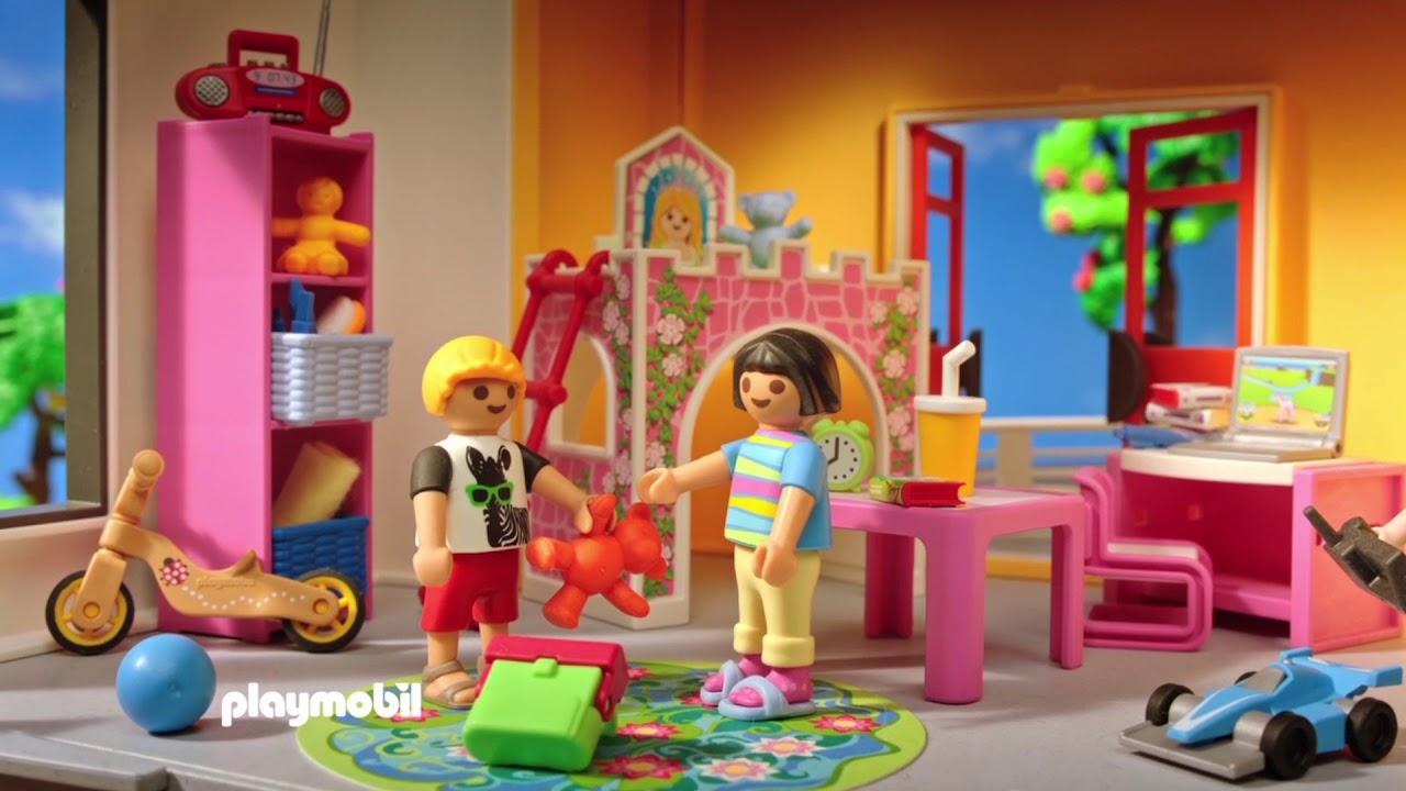 La gran casa moderna de playmobil youtube for La casa moderna