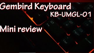 Gembird Keyboard|KB-UMGL-01|Mini Review