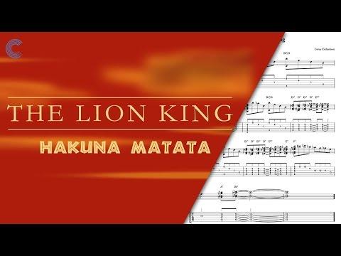 Clarinet - Hakuna Matata - The Lion King -  Sheet Music, Chords, & Vocals