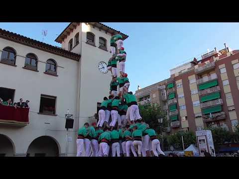 """Castellers de Vilafranca a Barberà del Vallès  - """" 2d9fm """"  (Festa Major Barberà 2017)"""