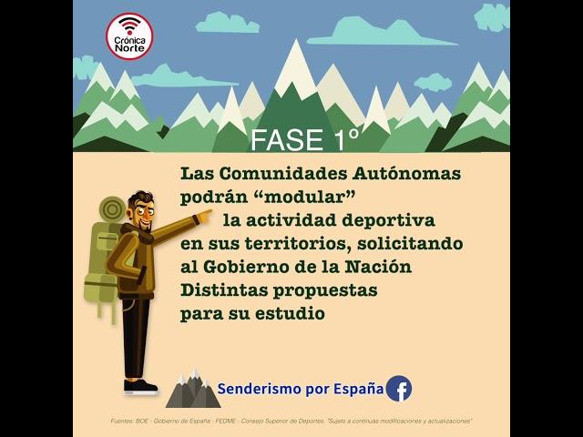 Normas para practicar Senderismo en la FASE 1ª fuera de tu municipio