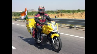 Bharadwaj Dayala World Tour on Motorcycle