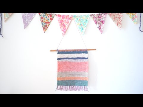Weaving DIY + simple Wall Hanging with a Homemade Loomㅣmadebyaya
