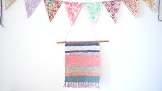 Weaving Diy + Simple Wall Hanging With A Homemade Loomㅣmadebyaya