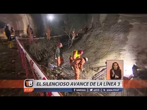 Estación Cal y Canto union de tuneles L3 Metro de Santiago. T13.