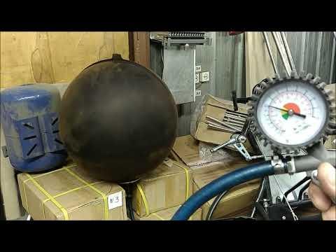 Испытание мембран для гидроаккумуляторов 24 литра.