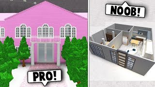 NOOB vs PRO 15 MINUTE HOUSE CHALLENGE! (Roblox Bloxburg)
