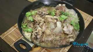 Тушеные бараньи ребрышки на сковородке. Рецепт приготовления.