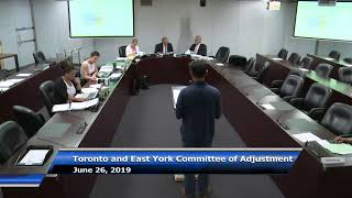 C of A TEY District - Public Hearing June 26 2019 Panel B (AM)