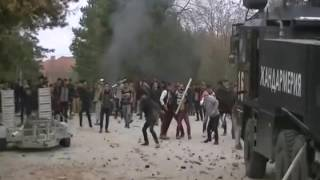 Europe is doomed. Police in Bulgaria attacked by crazed migrants.