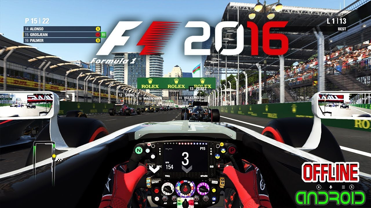 F1 2016 For Android Apk + Obb Download Offline 2018