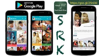 SRK Zero - App For All Movie Songs Clips Of Shah Rukh Khan - Bollywood Love Australia US India UK