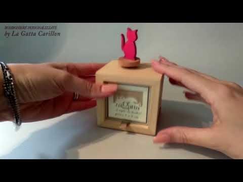 GATTINO carillon bomoniera (carioncino e porta foto)