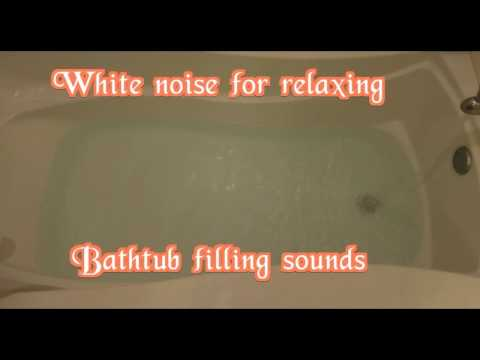 white noise bathtub filling up with water sound for sleeping