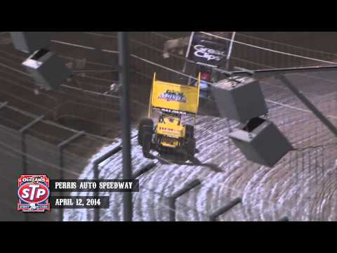 Highlights: World of Outlaws STP Sprint Cars Perris Auto Speedway April 12th, 2014