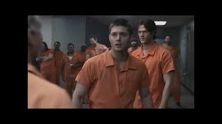 Supernatural - Cena de luta na prisão [2x19] [DUBLADO]