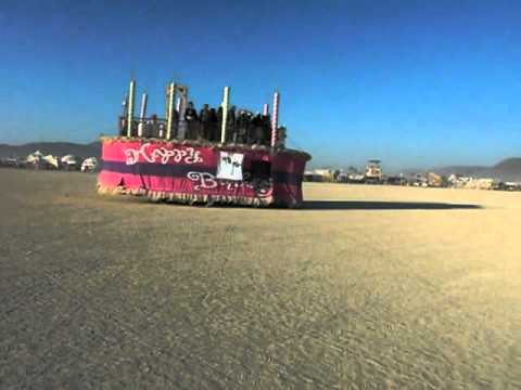 Early morning on the playa the Birthday Cake rolls by YouTube