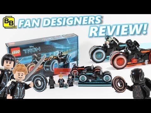 LEGO IDEAS TRON LEGACY LIGHT CYCLE 21314 SET  REVIEW!
