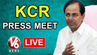 CM KCR Press Meet After Telangana Cabinet Meeting LIVE | V6 News