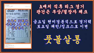 축구 토토 승무패 44회차/승무패 44회차 현미경 분석…